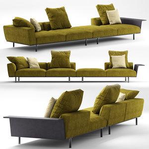 3D molteni c gregor sofa