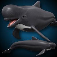 pilot swimming animating 3D model
