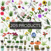 3D botanical - 205 products model