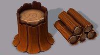 stump v01 3D model