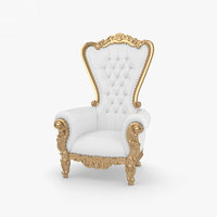 throne chair furniture 3D