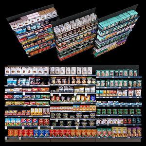 3D shelves goods model