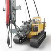 3D hydraulic pile driving machine