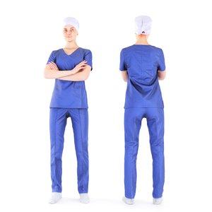 photogrammetry woman surgical nurse model