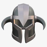 3D warrior helmet model