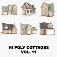 3D hi-poly cottages vol 11