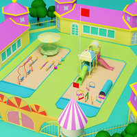 nursery school 3D model