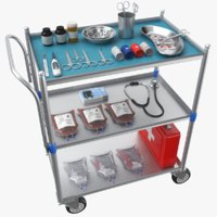 Full Medical Supply Cart