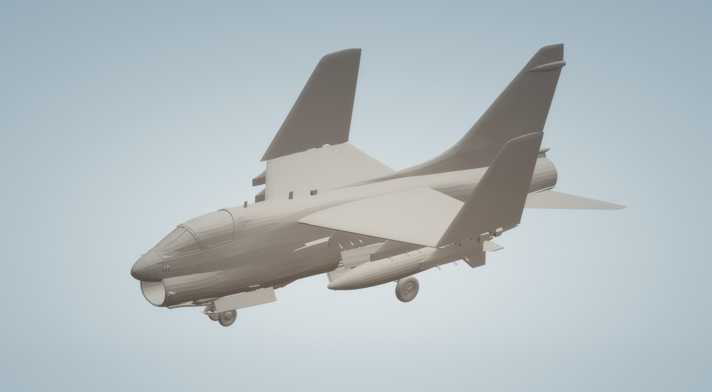 a7 corsair carriers wings 3D