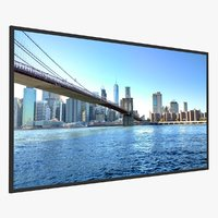3D low-poly led tv 65