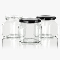 3D jar glass type4 model