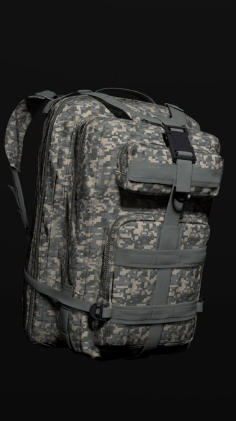 military backpack color 2 3D model