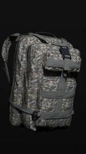military backpack color 2 3D model