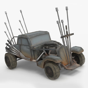 3D mad buggy rat