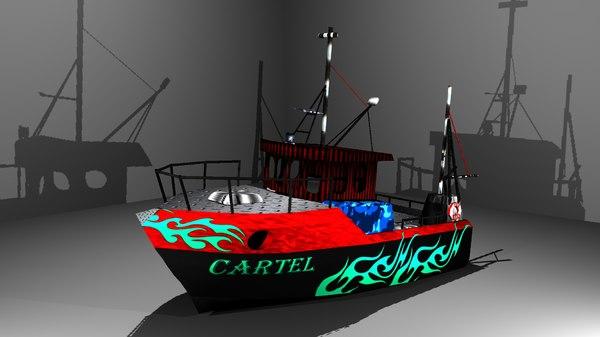 artist gangster cartel boat 3D