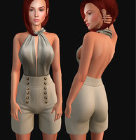 shorts sandals set 3D model