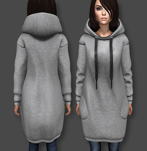 dress hoody 3D model