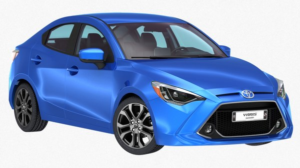 toyota yaris sedan 2019 3D