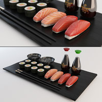 3D sushi nigiri plate