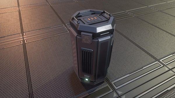 sci-fi container model