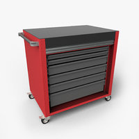 roller tool box cabinet 3D model