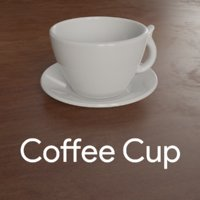 3D ceramic coffee cup