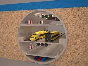 tunnel subway eurasia 3D model