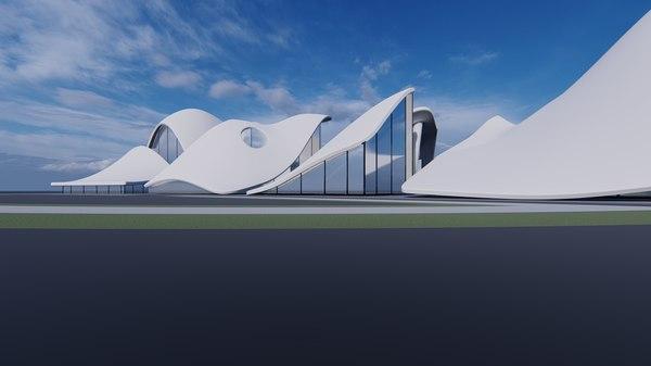 cultural center 3D model