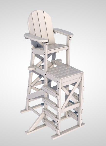 3D lifeguard chair model