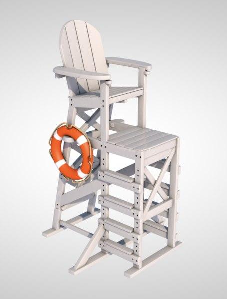 lifeguard chair lifebuoy model