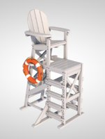 lifeguard chair lifebuoy