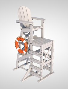 lifeguard chair lifebuoy model