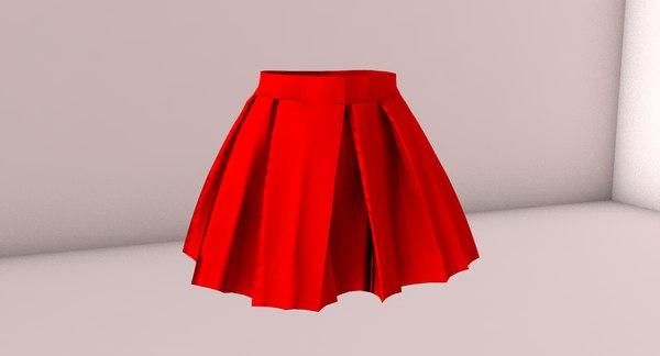 skirt red 3D model