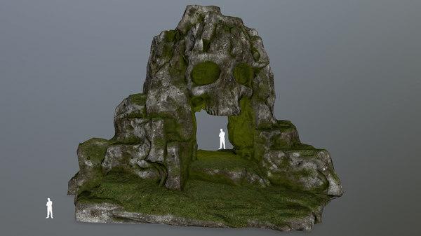 3D skull cave
