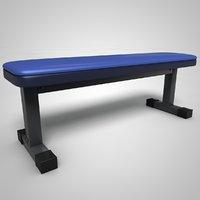 3D flat bench