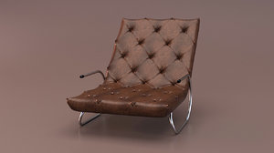 3D relax chair leather model