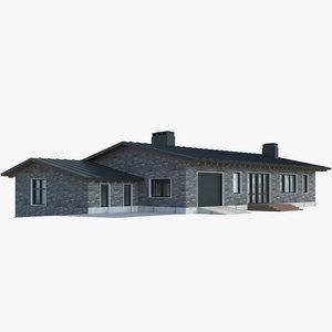 house cottage home 3D model
