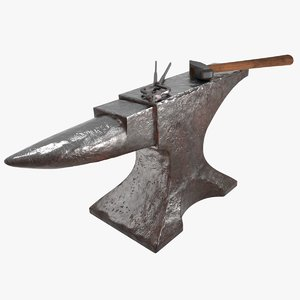 3D blacksmith tools model