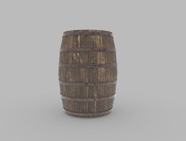 container barrel cask 3D model