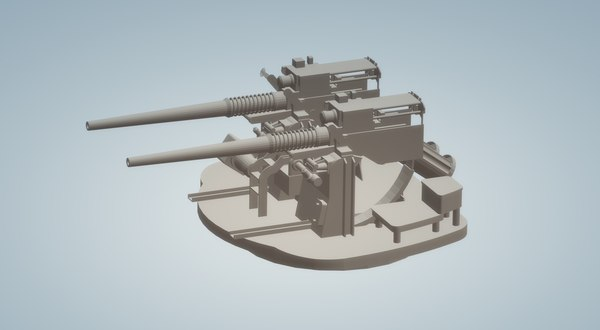 3D dual 40 mm bofors