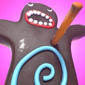 3D model voodoo doughnut