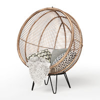 3D rattan cocoon chair