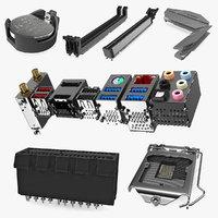 3D motherboard parts model