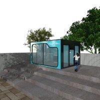 3D smoking station