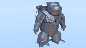3D model pokemon warmachine