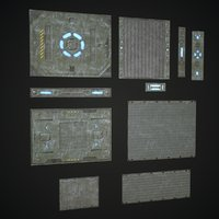 3D model sci fi panels