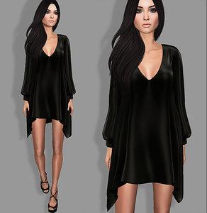 3D dress heels set model