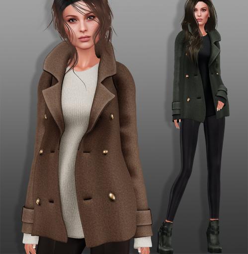 coat shoes set 3D model