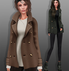 coat shoes set 3D model