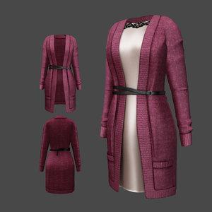 cardigan dress model